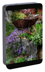 Portable Battery Charger featuring the photograph The Whimsical Wheelbarrow by Thom Zehrfeld