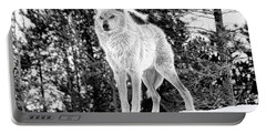 The Wolf  Portable Battery Charger by Fran Riley