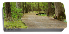 Portable Battery Charger featuring the photograph The Wooden Path by Patrick Shupert