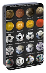 The World Cup Balls Portable Battery Charger by Taylan Apukovska