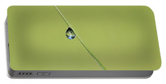 Portable Battery Charger featuring the photograph The World Within A Dewdrop by Penny Meyers