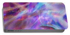 Portable Battery Charger featuring the digital art The Writing's On The Wall by Margie Chapman