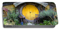 The Yellow Hobbit Door Portable Battery Charger by Venetia Featherstone-Witty