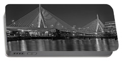The Zakim Bridge Bw Portable Battery Charger