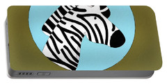 The Zebra Cute Portrait Portable Battery Charger by Florian Rodarte