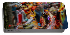 Portable Battery Charger featuring the photograph Their Spirit Is Among Us - Nanticoke Powwow Delaware by Kim Bemis