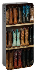 Portable Battery Charger featuring the photograph These Boots Were Made For Walking by Jani Freimann