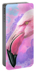 Think Pink Flamingo Portable Battery Charger