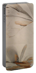 Portable Battery Charger featuring the painting Thinker by Mike Breau