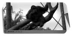 Portable Battery Charger featuring the photograph Thinking Of You Black And White by Joseph Baril