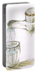 Portable Battery Charger featuring the painting Thirsty Of Water by Teresa White