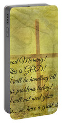 Portable Battery Charger featuring the digital art This Is God by Erika Weber