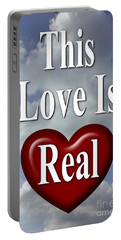 This Love Is Real Portable Battery Charger