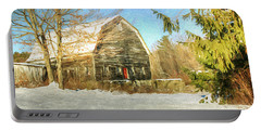 This Old Barn Portable Battery Charger by Tina  LeCour