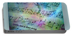 This Song's For You Portable Battery Charger by Irma BACKELANT GALLERIES