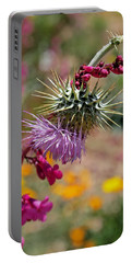 Portable Battery Charger featuring the photograph Thistle And Penstemon by Rona Black