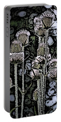Portable Battery Charger featuring the digital art Thistle  by David Lane