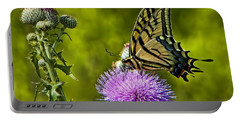Portable Battery Charger featuring the photograph Thistle Do Just Fine by Gary Holmes