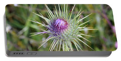 Thistle Flower Portable Battery Charger by George Atsametakis