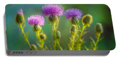 Thistle In The Sun Portable Battery Charger