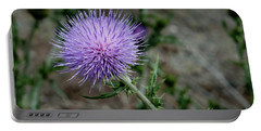 Portable Battery Charger featuring the photograph Thistle by Rod Wiens