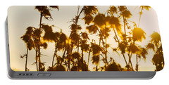 Portable Battery Charger featuring the photograph Thistles In The Sunset by Chevy Fleet