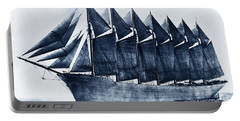 Thomas W. Lawson Seven-masted Schooner 1902 Portable Battery Charger