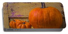 Three Autumn Pumpkins Portable Battery Charger