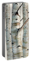 Three Birch Trees Portable Battery Charger