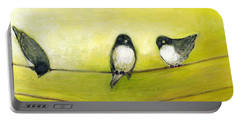 Three Birds On A Wire No 2 Portable Battery Charger