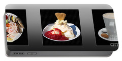 Portable Battery Charger featuring the photograph Three Course Meal by Terri Waters