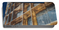Three Dimensional Optical Illusions - Trompe L'oeil On A Brick Wall Portable Battery Charger
