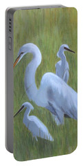 Three Egrets  Portable Battery Charger