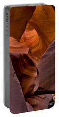 Portable Battery Charger featuring the photograph Three Faces In Sandstone by Mae Wertz