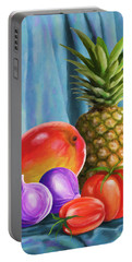 Three Fruits And A Vegetable Portable Battery Charger