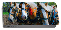 Three Horses Break Time  Portable Battery Charger
