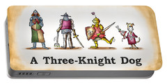 Three Knight Dog Portable Battery Charger