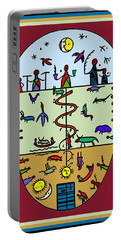 Portable Battery Charger featuring the digital art Three Layers Of Life by Vagabond Folk Art - Virginia Vivier