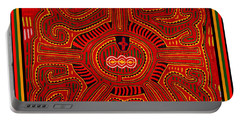 Portable Battery Charger featuring the digital art Three Layers Of The World by Vagabond Folk Art - Virginia Vivier