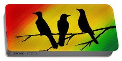 Three Little Birds Original Painting Portable Battery Charger
