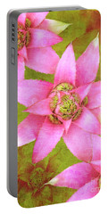 Three Pink Ladies Portable Battery Charger by Claudia Ellis