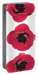 Three Red Poppies Portable Battery Charger