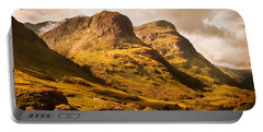 Three Sisters. Glencoe. Scotland Portable Battery Charger