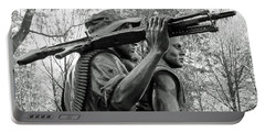Three Soldiers In Vietnam Portable Battery Charger by Cora Wandel