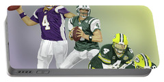 Three Stages Of Bret Favre Portable Battery Charger