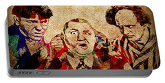 Portable Battery Charger featuring the photograph Three Stooges Graffiti by Gary Keesler