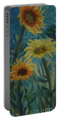Three Sunflowers - Sold Portable Battery Charger