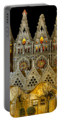 Three Tiers - Sagrada Familia At Night - Gaudi Portable Battery Charger
