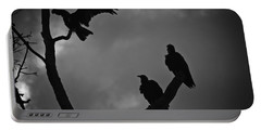 Portable Battery Charger featuring the photograph Three Vultures by Bradley R Youngberg
