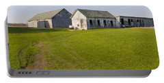 Three Weathered Farm Buildings Portable Battery Charger